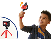 Tabletop Tripod/Selfie StickSet up the perfect shot with the included tabletop tripod or convert it to a 5-inch selfie stick and flip up the camera lens to frame perfect selfies.